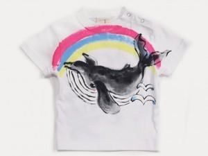 空飛ぶクジラの手描き