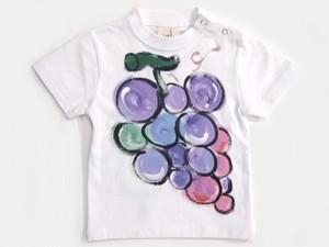 ジューシーフルーツ ぶどうの手描き
