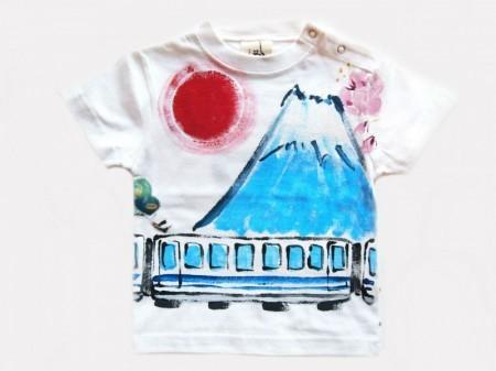 新幹線と富士の手描き