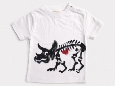 ホネホネ恐竜トリケラトプスの手描き