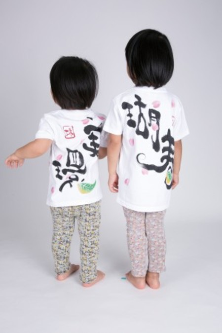 満開桜の手描きTシャツ