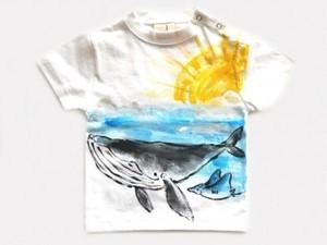 クジラの手描き