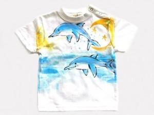 イルカの手描き