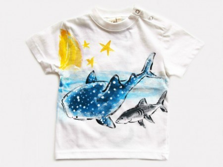 ジンベイザメの手描き