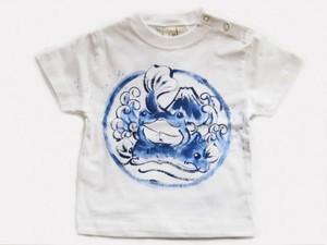 旅カエルの富士越えの手描き