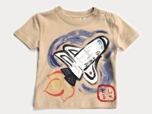 スペースシャトルの手描き