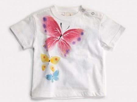 蝶むすびの手描きTシャツ