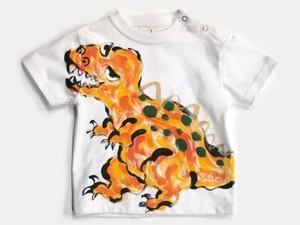ティラノザウルスの手描きTシャツ