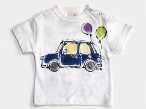 どこいこCAR(青)の手描きTシャツ