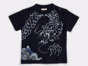 暴龍の手描きTシャツ(紺色・カーキ色お勧め柄)