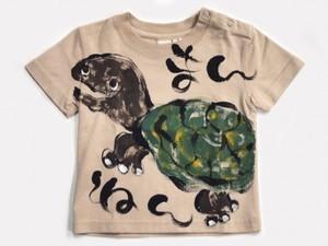 万年亀の手描き
